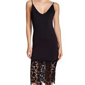 Free People Dresses - Free People Intimately Black Slinky Slip Dress